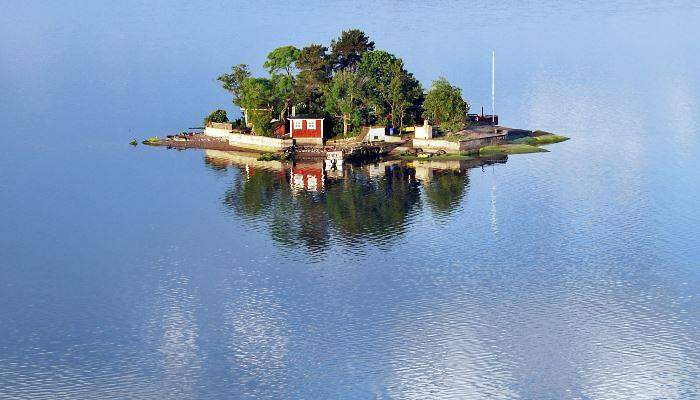 Small island off Stockholm