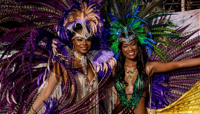 Picture of masqueraders at Trinidad carnival